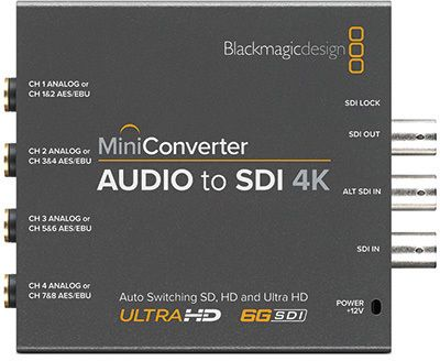 Blackmagic Mini Converter Audio - SDI 4K (BM-CONVMCAUDS4K)