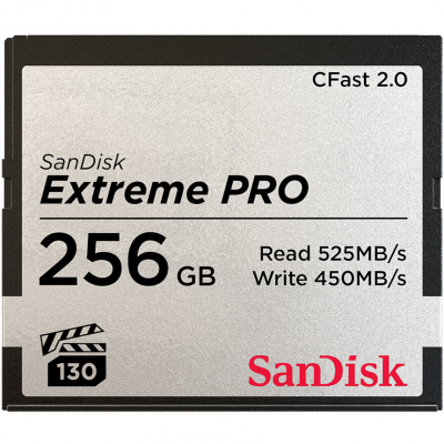 SanDisk Extreme PRO CFast 2.0 Card 525MB/s 256GB